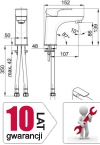 ARMATURA KRAKÓW - MOKAIT bateria umywalkowa 5532-815-00