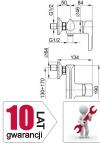 ARMATURA KRAKÓW - ANGELIT bateria natryskowa 4726-010-40