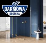 NEW TRENDY - Kabina prysznicowa prostokątna AVEXA GOLD EXK-1738/39 Złote Profile 80x120x200