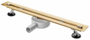AQUALine Odpływ liniowy podłogowy złoty/gold SUPER SLIM INVISIBLE 120cm RSP01GL NOWOŚĆ