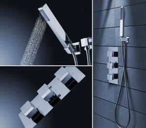 REA - Bateria podtynkowa prysznicowa z natryskiem BRITO Termostatyczna