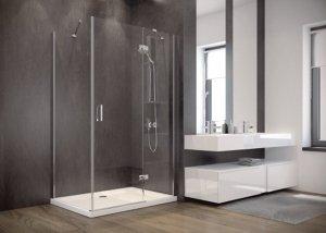 BESCO - Kabina prysznicowa prostokątna pojedyncze drzwi otwierane VIVA 195 RÓŻNE ROZMIARY