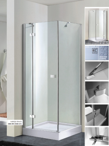 WANA Kabina prysznicowa kwadratowa drzwi otwierane PERFECT DEVON 90x80x190