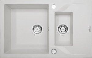 DEANTE Zlewozmywak ANDANTE 1,5-komorowy z krótkim ociekaczem - alabaster ZQN A513