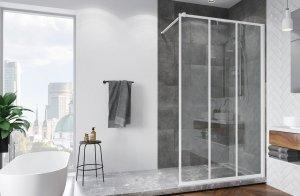 SanSwiss - Ścianka boczna wolnostojąca szkło 8mm Walk-in Easy Loft 72 STR4P Rozmiary 80-140cm  BIAŁY MAT