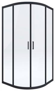 DEANTE - Kabina FUNKIA 80x80 Nero półokrągła