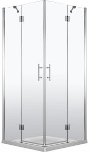 DEANTE Kabina prysznicowa kwadratowa drzwi podwójne otwierane 90x90 ABELIA KTA 043P