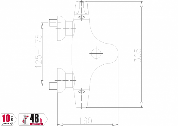 ARMATURA KRAKÓW - Exclusive  Bateria wannowa termostatyczna 574-011-00