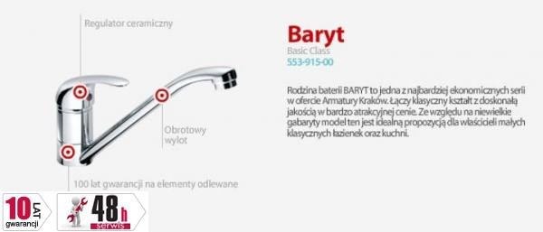 ARMATURA KRAKÓW - BARYT bateria zlewozmywakowa stojąca 553-915-00