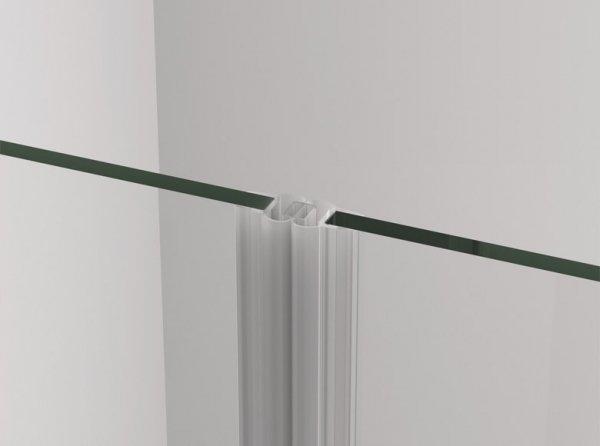 SANSWISS - Drzwi Prysznicowe CADURA CA1C wahadłowe jednoczęściowe Rozmiary 70-100 profil GOLD/ZŁOTY