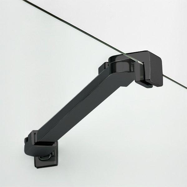 NEW TRENDY Kabina prysznicowa pięciokątna NEW SOLEO BLACK 80x80x195 K-0616