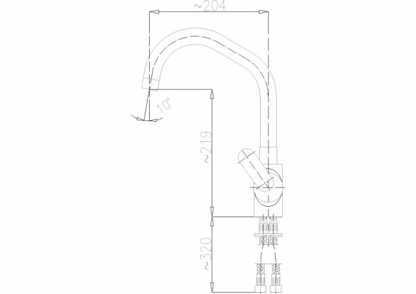 ARMATURA KRAKÓW - Cyrkon Bateria zlewozmywakowa stojąca 583-615-00