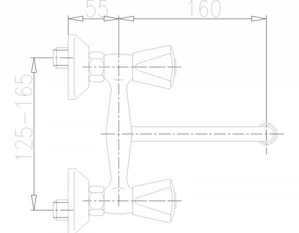 ARMATURA KRAKÓW - Ceramik Bateria dwuuchwytowa, zlewozmywakowa 330-410-00