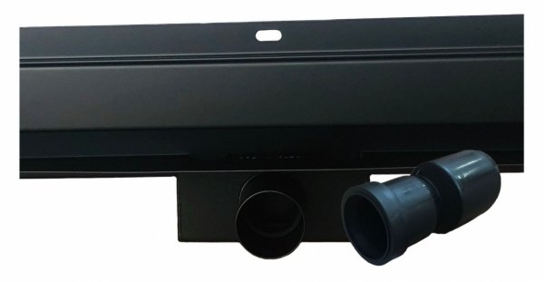 AQUALine - Odpływ liniowy ścienny czarny/black 2w1 pod płytkę Rozmiary od 60-100cm S04BK