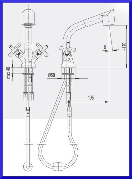 ARMATURA KRAKÓW - SYMETRIC bateria zlewozmywakowa stojąca 343-110-00