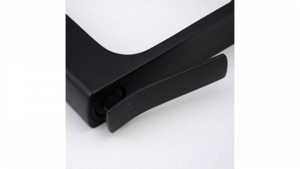 REA - Bateria umywalkowa nablatowa SONIC czarna BLACK wysoka HIGH