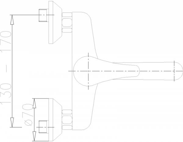 ARMATURA KRAKÓW - Nefryt umywalkowa ścienna 500-810-00