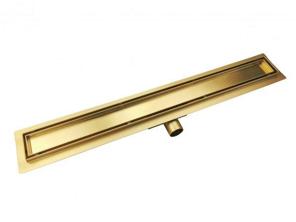 AQUALine - Odpływ liniowy posadzkowy złoty/gold 2w1 pod płytkę Rozmiary 60cm-90cm L04GL