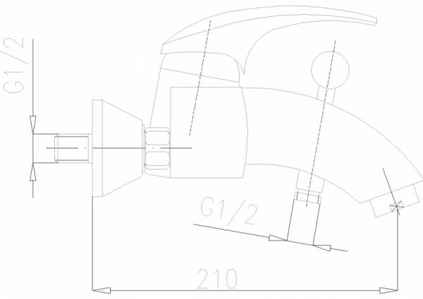 ARMATURA KRAKÓW - Ametyst bateria  wannowa ścienna 404-010-00