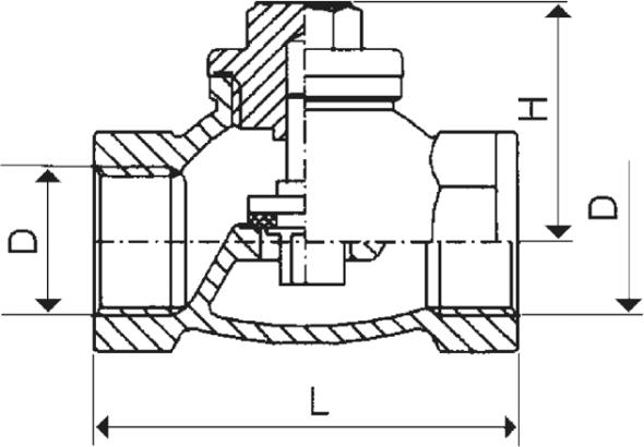 ARMATURA KRAKÓW - zawór zwrotny żeliwny do wody 192-010-32