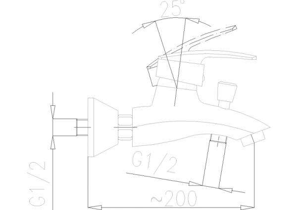 ARMATURA KRAKÓW - Rubin Bateria wannowa 564-010-00