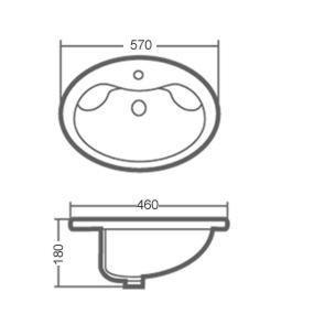 ARMATURA KRAKÓW - CYRKON bateria umywalkowa ścienna 580-810-00
