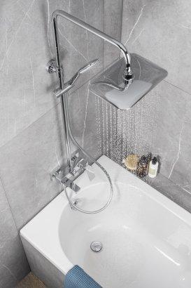 ARMATURA KRAKÓW - Zestaw prysznicowy z wylewką wannową LOGON 5136-915-00