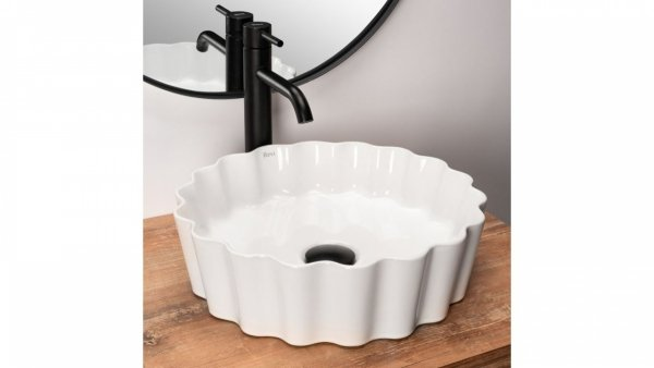 REA Umywalka ceramiczna nablatowa MELISA WHITE