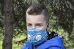 xBREATHE DOTS Maska Chusta ochronna Filtr HEPA 2x