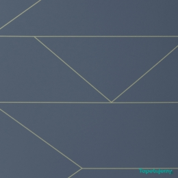 Tapeta Ferm LIVING - Lines Wallpaper - Dark Blue 171 Linie