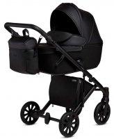 ANEX e-Type Noir BLACK | Kombi-Kinderwagen 2 in 1 mit Babywanne und Sportwagen | oder 3 in 1 mit Autoschale