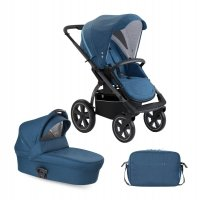 X-Move Petrol Blue 2 in 1 SET | Kombi Kinderwagen X-Lander |inkl.Wickeltasche