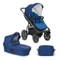 X-Move Night Blue 2 in 1 SET | Kombi Kinderwagen X-Lander |inkl.Wickeltasche