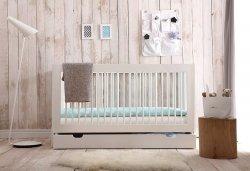 Babybett/Kinderbett 140 x 70 cm MONO, weiß