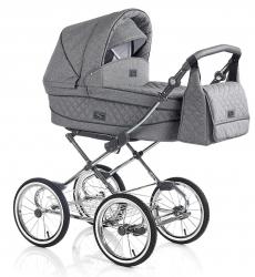 CLASSICO SOFIA Grau | 2 in 1 mit Liegewanne und Sportwagen | oder 3 in 1 mit Autoschale | Kombi-Kinderwagen