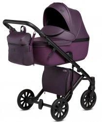 ANEX e-Type PLUM | Kombi-Kinderwagen 2 in 1 mit Babywanne und Sportwagen | oder 3 in 1 mit Autoschale
