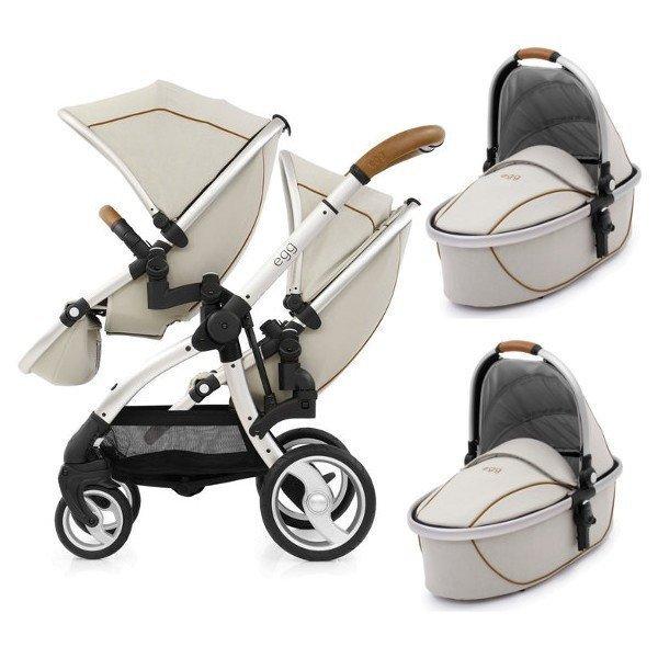 Geschwisterwagen   Zwillingskinderwagen EGG Stroller   + 2 Liegewannen / 2 Sportsitze + Sitzauflage gratis    BabyStyle   PROSECCO