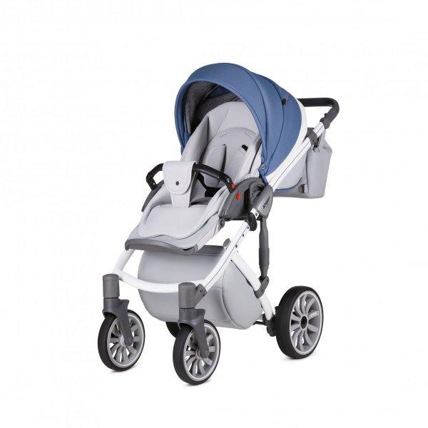 ANEX SPORT Nebulas Blue | 2 in 1 mit Liegewanne und Sportwagen | oder 3 in 1 mit Autoschale | Kombi-Kinderwagen