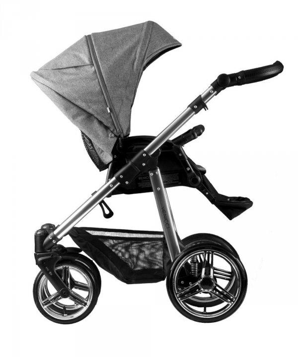 Venicci SILVER Denim Grey | 2 in 1 mit Liegewanne und Sportwagen | oder 3 in 1 mit Autoschale | Kombi-Kinderwagen | Special Edition