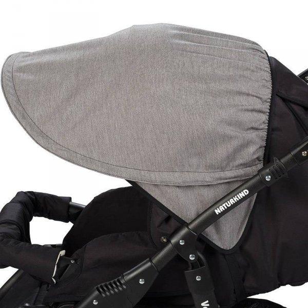 NATURKIND Kinderwagen LUX | Siebenschläfer | grau meliert