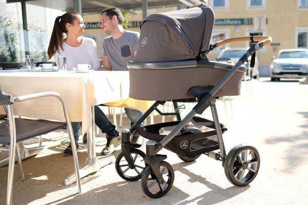NATURKIND Kinderwagen LUX | Waschbär | graumeliert / schiefergrau