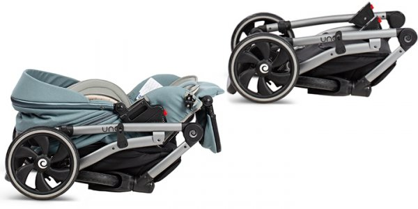 UNO TUTIS | Canella/ Grau | Kombi-Kinderwagen 2 in 1 mit Liegewanne und Sportwagen | oder 3 in 1 mit Autoschale | Gestell in Schwarz