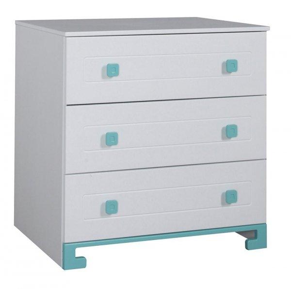 Kinderzimmer/ Jugendzimmer DoDo | Weiß/ Türkis, individuell konfigurierbar