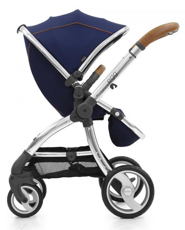 Geschwisterwagen | Zwillingskinderwagen  EGG Stroller | + 2 Liegewannen / 2 Sportsitze + Sitzauflage GRATIS  | BabyStyle | REGAL NAVY