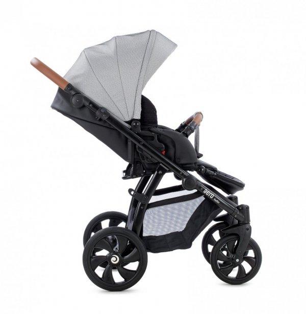 AERO TUTIS Buran | Kombi-Kinderwagen 2 in 1 mit Liegewanne und Sportwagen | oder 3 in 1 mit Autoschale | Eco Leder