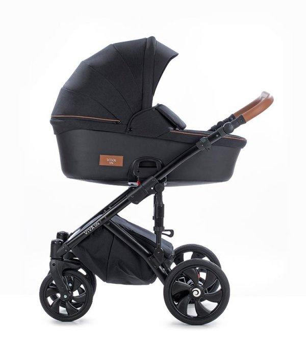VIVA LIFE TUTIS Caviar | Kombi-Kinderwagen 2 in 1 mit Liegewanne und Sportwagen | oder 3 in 1 mit Autoschale