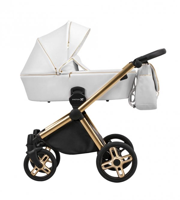Kombikinderwagen EMOTION XT WHITE Gold| Limited EDITION | Alu Gestell in Gold