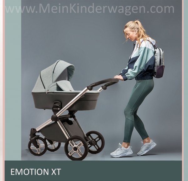 Kombikinderwagen EMOTION XT | ROSE | Limited EDITION | Hochglanz Chrom