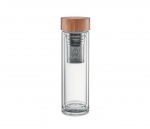 Termos szklany z zaparzaczem 420 ml AMBEO GLASS (przezroczysty)