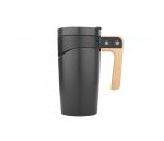 Kubek ceramiczny z drewnianą rączką 470 ml GLORY (czarny)